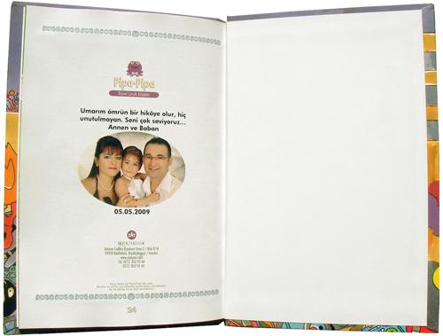 Kişiye özel çocuk kitapları arka sayfa